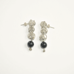Boucles d'oreilles BULB 3 & Onyx