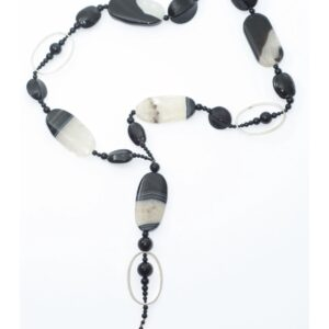 Collier VICTORIA black&white