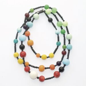 Long necklace UNIK Colors black
