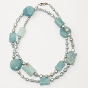 Long necklace UNIK turquoise