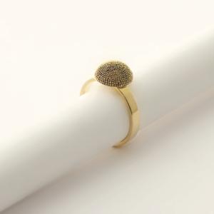 Ring MERCURE GOLD 1/2 sphere