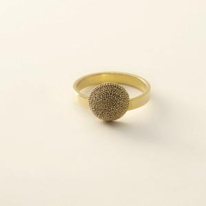Bague MERCURE OR 1/2 sphère