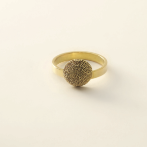 Ring MERCURE GOUD 1/2 sphère