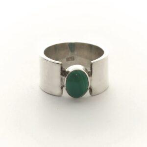 Ring VICTORIA groene ovale